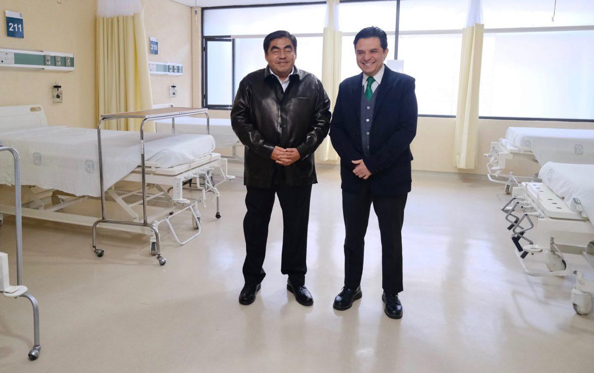 Esta tarde LMBH y director del IMSS inaugurarán 38 camas COVID-19