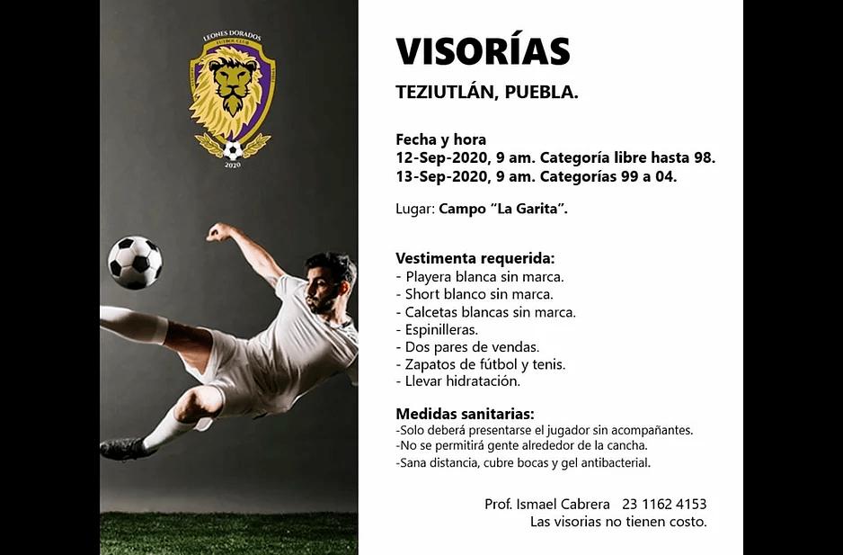 Leones Dorados FC lleva a cabo visorias en Teziutlán