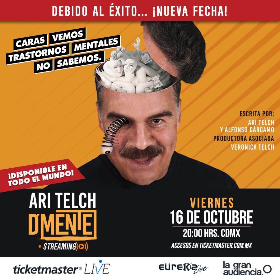 """Debido al éxito que tuvo en streaming, la obra """"D'Mente"""" con Ari Telch vuelve a ser retransmitida el 16 de octubre"""