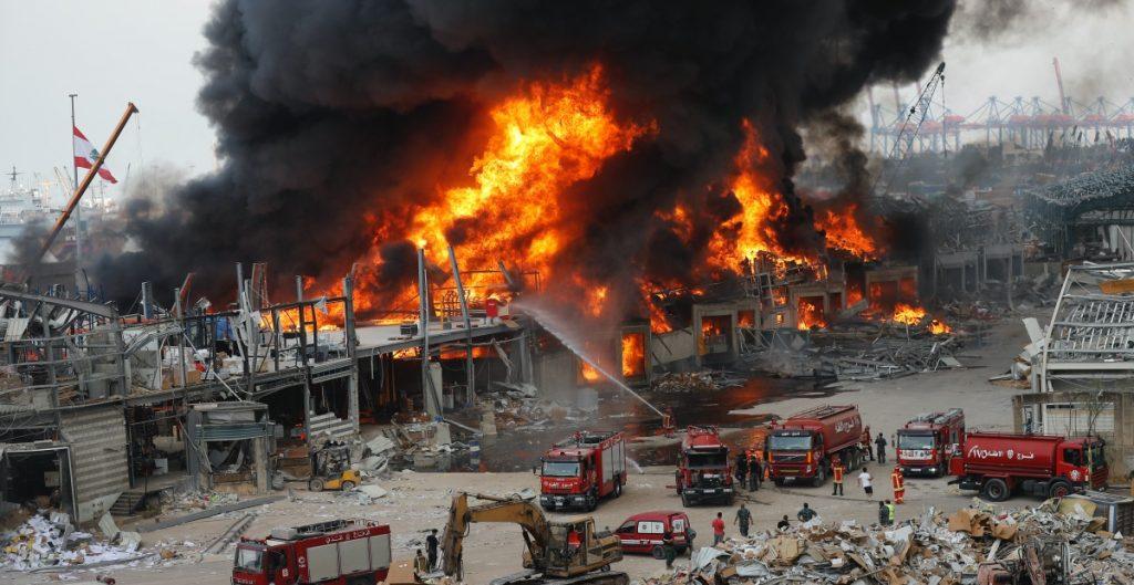 Incendio en Beirut desata nuevamente pánico en habitantes