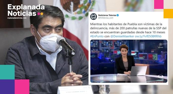 Desmiente Barbosa reportaje nacional sobre patrullas estatales sin usar