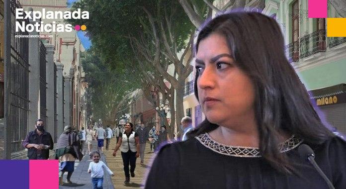 Corredor 5 de Mayo es un riesgo de contagio de Covid-19, reconoce Claudia Rivera