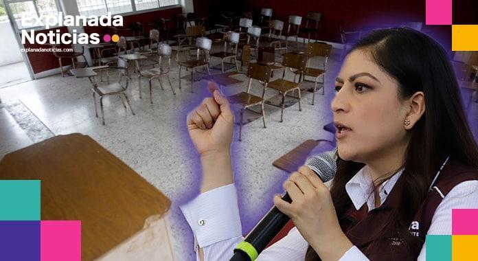 Sin clases presenciales, Claudia Rivera destina 28 mdp para programas escolares