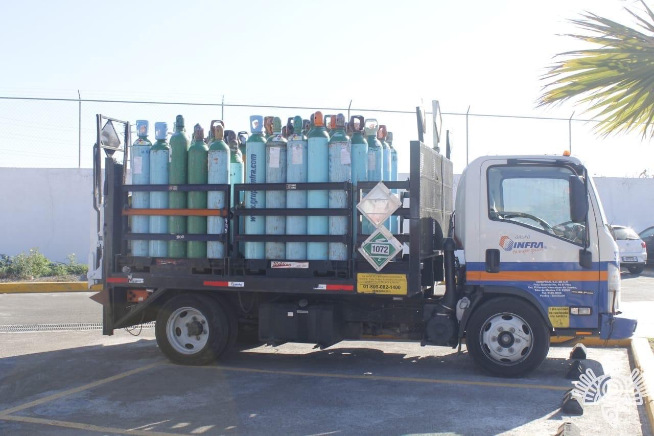Policía Estatal frustra robo de 87 tanques de oxigeno