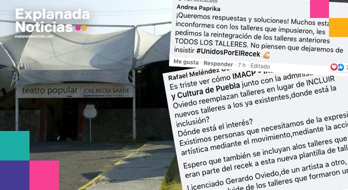 IMACP pulveriza compañía de teatro popular José Recek Saade.