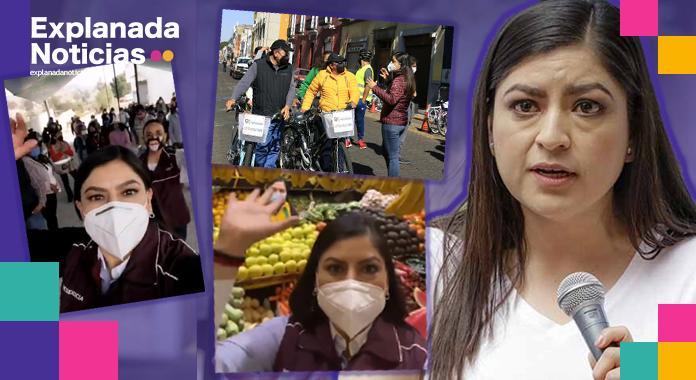Claudia Rivera advierte sanciones a funcionarios que actúen con fines electorales, mientras ella sigue en campaña
