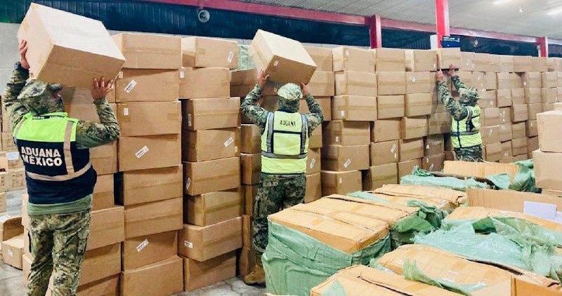 Decomisa Aduana 82 mil oxímetros y pruebas Covid