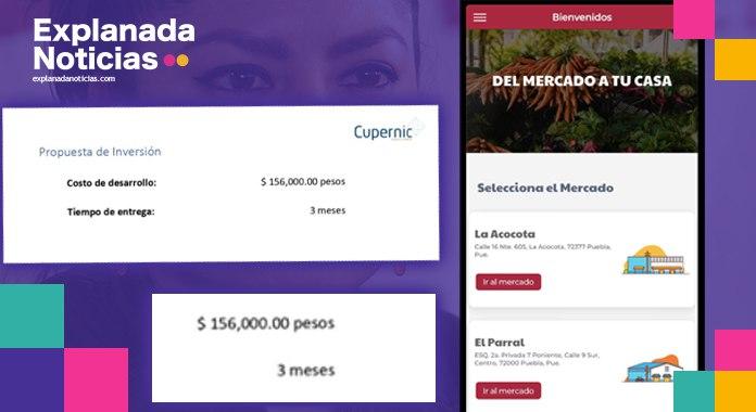 Claudia Rivera compra aplicación en millón y media, cuando su costo real es de 150 mil pesos