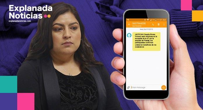 ¡Escándalo!: Con mentiras Claudia Rivera llena celulares de poblanos sobre candidatura