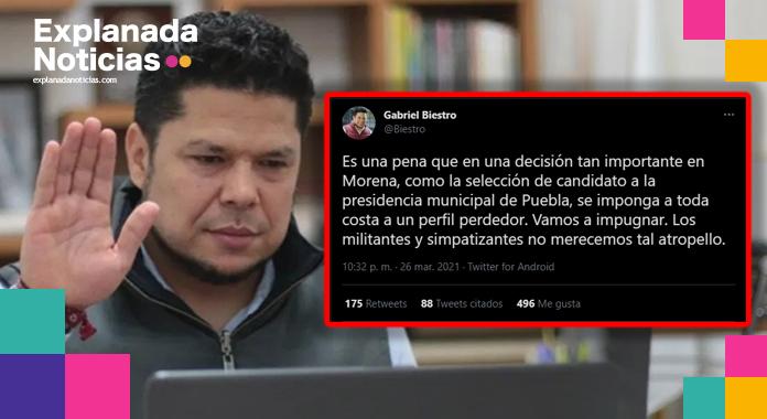 Presenta Biestro impugnación ante TEPJF y Morena; sostiene que CRV se basa en la corrupción