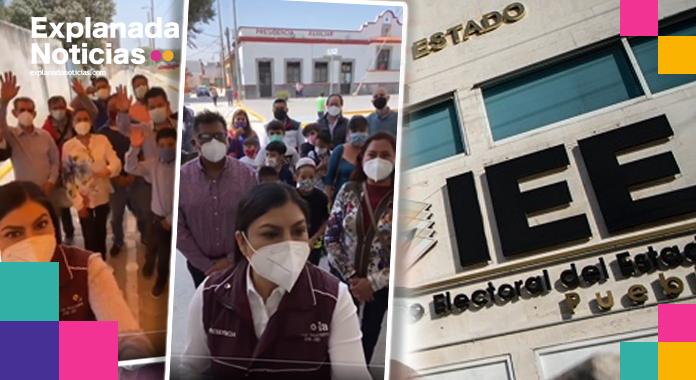 IEE ordena a Claudia Rivera, evitar el uso del cargo y los recursos públicos para promoción personal