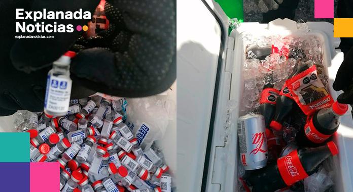 Ejército decomisa vacunas Sputnik escondidas entre refrescos y helados