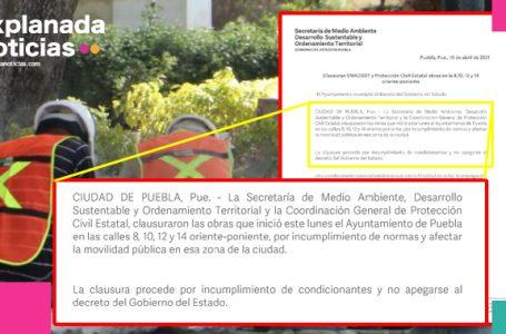 Comuna solo presentó estudio de impacto ambiental, por eso la clausura obras del CH: SMADSOT