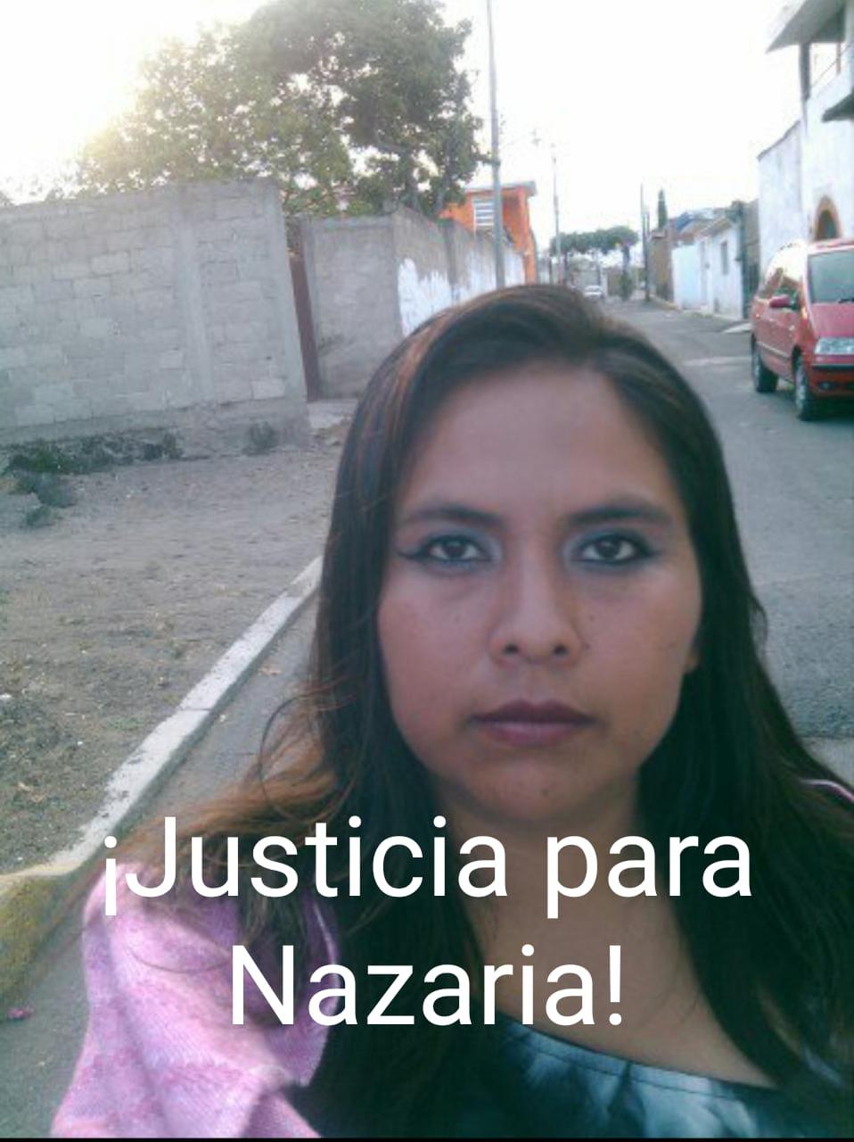 ¡Justicia para Nazaria! Mañana salen libres sus asesinos
