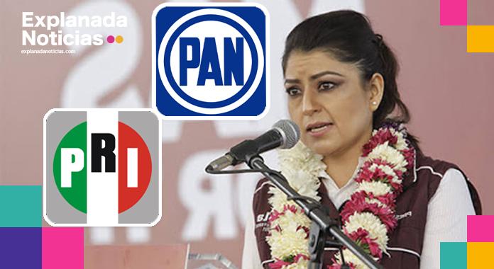 Por actos anticipados de campaña, PRI y PAN no descartan denunciar a Claudia Rivera Vivanco