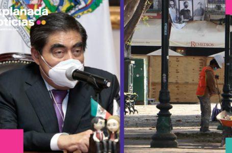 Anuncia Barbosa inventario para recuperar lajas que retiró Rivera Vivanco del Zócalo