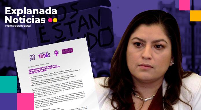 Estudio de organizaciones feministas reprueban a Claudia Rivera en la implementación de acciones contra la violencia de género