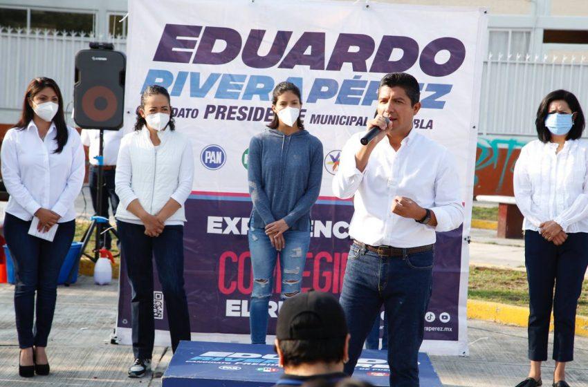 """Contigo mujer"" beneficiará a 100 mil mujeres poblanas: Eduardo Rivera Pérez"