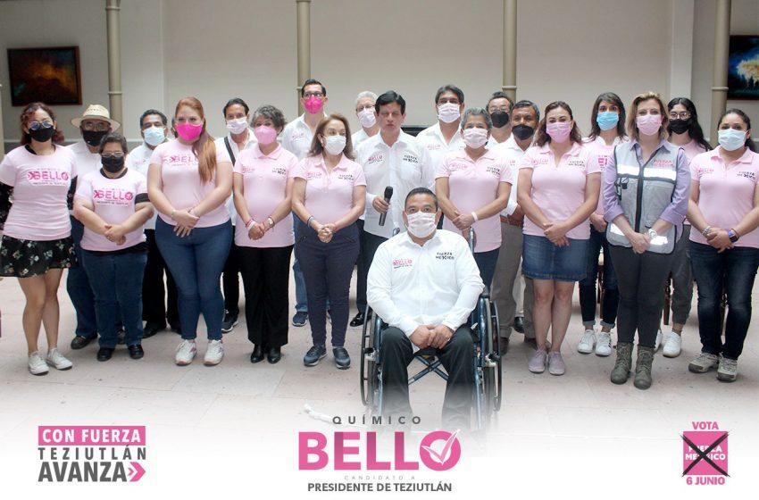 Hoy nuestra planilla está más fortalecida y tenemos los proyectos que Teziutlán necesita: Químico Bello.