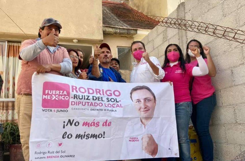 Rodrigo Ruiz del Sol continúa caminando  sin descanso el distrito 20 local