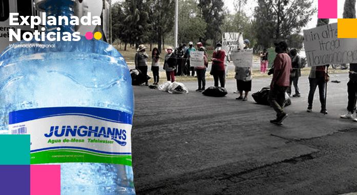 Pobladores de Tlaxcalancingo exigen la salida de Junghanns de la zona