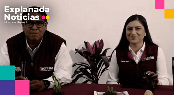 Brigadistas de Claudia Rivera agreden a periodistas, la candidata evade su responsabilidad y los culpa