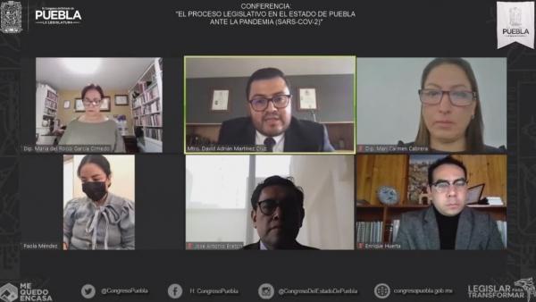 """Se realizó en el Congreso del Estado la Conferencia, """"El Proceso Legislativo en Puebla ante la Pandemia de SARS COV-2"""""""