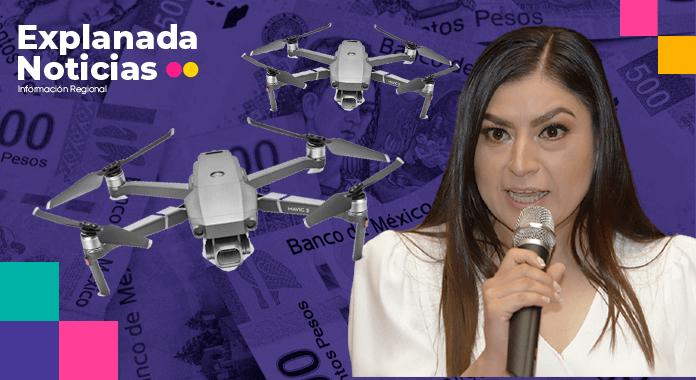 Para la compra de dos drones, el Ayuntamiento de Claudia Rivera gastó más de 2 millones de pesos