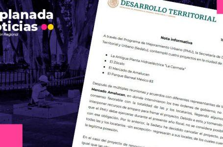 Ineptitud de Claudia Rivera provoca afectación en obras del zócalo; Sedatu reduce alcances del proyecto