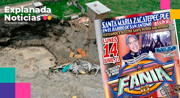 Sonido Fania 97 lucra con desgracia del socavón; entrega únicamente 5 mil pesos a familia afectada