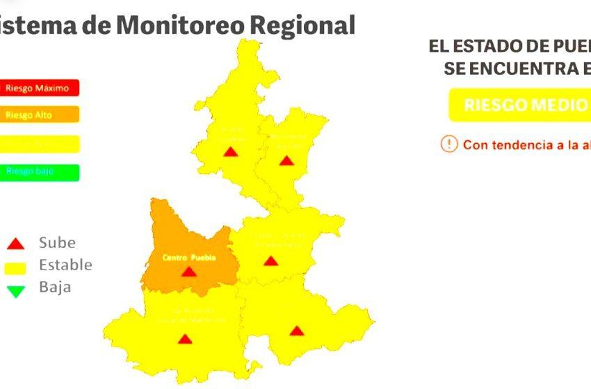 Puebla pasa a semáforo Naranja con riesgo alto