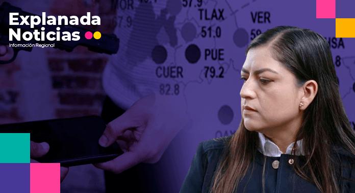 Encuesta del INEGI revela que con el gobierno de Claudia Rivera, el 79% de los poblanos se siente inseguro