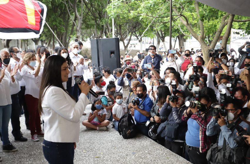 Ratifica TEPJF que Claudia Rivera sí incurrió en actos anticipados de campaña