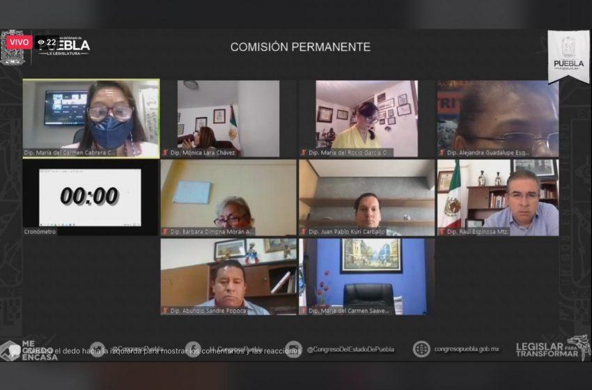 Turna LX Legislatura a comisiones unidas la iniciativa del Ejecutivo para expedir Ley de Búsqueda de Personas del Estado de Puebla