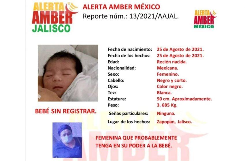 Encuentran a la bebé secuestrada de hospital en Jalisco