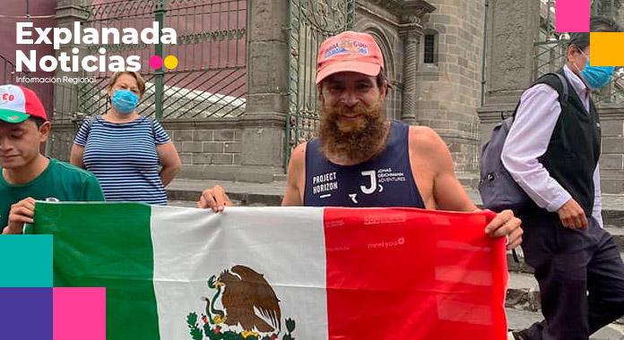 """Jonas Deichmann el """"Forrest Gump""""de la vida real pasa por Puebla"""