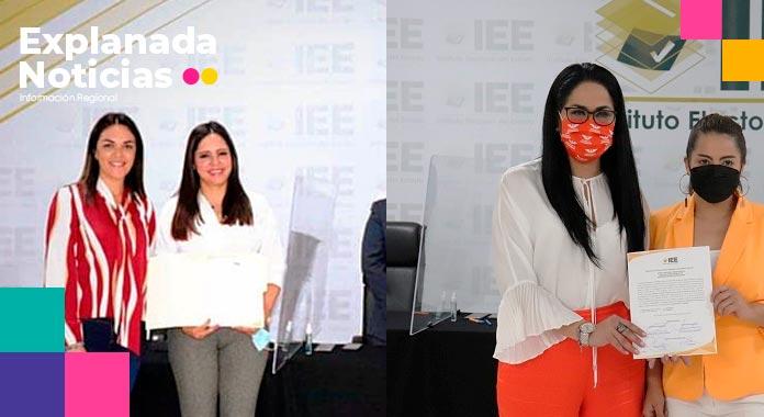 IEE entrega constancia de mayoría como diputadas locales a Melissa Jauli y Fedrha Suriano