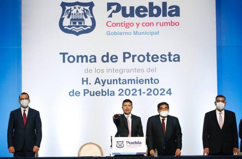 Eduardo Rivera Pérez rindió protesta como presidente municipal de Puebla